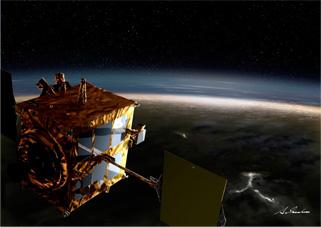 あかつきの金星探査イメージ画像
